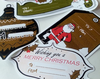 Christmas Holiday Gift and Card Name Labels