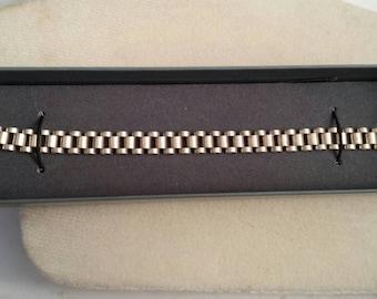 Sterling Silver Men's Link Bracelet