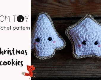 Christmas cookies Crochet PATTERN, Amigurumi crochet toy, Crochet ornament, Handmade DIY gift for Christmas