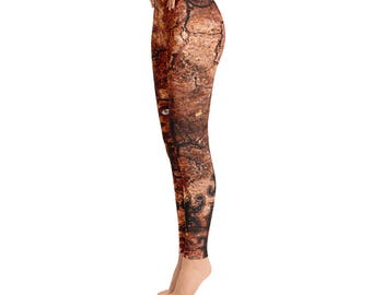 Forest Leggings - Tree Yoga Leggings - Women's Leggings - Quality Leggings - FlyDesignStore