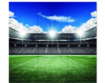Soccer Party - Stadium Backdrop 54 x 52 inches Approx.