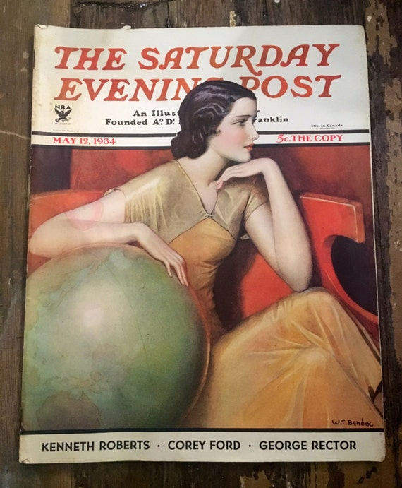 Vintage Saturday Evening Post Magazine May 12, 1934
