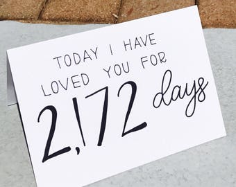 Days I Have Loved You card and envelope