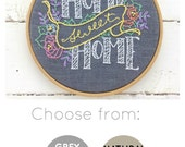Embroidery Kit, Modern Embroidery Kit, DIY Embroidery, DIY Embroidery Kit, Hand Embroidery Kit, Home Sweet Home, Embroidery Pattern, Home