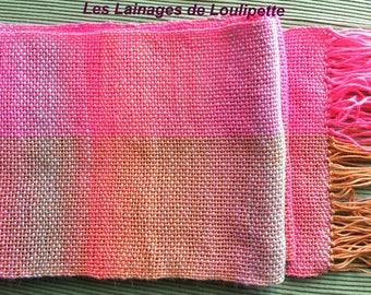 Multi-colored woven scarf
