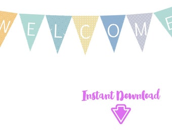 WELCOME GRANDMA banner - instant download - printable PDF files