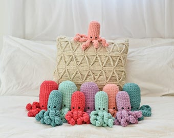 Modern Stuffed Octopus Soft Baby Toy Crochet Animals Under the Sea Creature Nautical Gift Childrens Stuffie