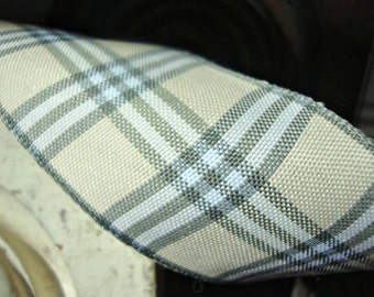 Scandinavian Cream and Grey Plaid Ribbon