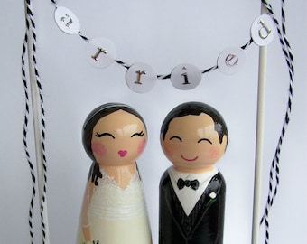 Hand Painted Love Boxes Custom Wedding Cake Toppers Stand and Bunting to match