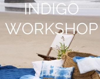 Tie Dye and Shibori Indigo Dye Workshop, Sunday May 20,  2018,  Anna Joyce, Portland, OR.