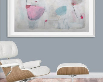 Abstract painting, acrylic painting, home decor, colorful, modern painting, minimalist, blue, white, wall art, wall decor, gift for her