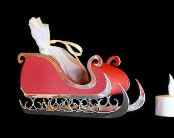 3D SVG Santa Sleigh