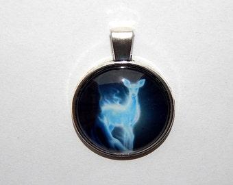 Doe deer patronus pendant, doe patronus necklace jewelry, doe patronus keychain, mystical doe, doe totem, harry potter doe patronus severus