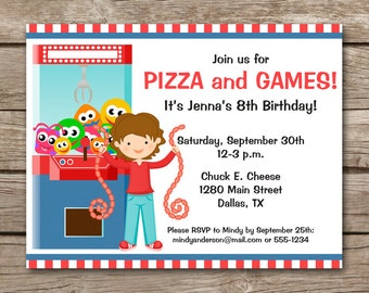Pizza party invitation pizza invitation pizza birthday arcade invitation arcade birthday invitation pizza party invitation pizza birthday invitation girls stopboris Image collections