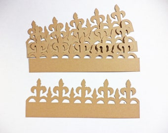Tim Holtz On The Edge Iron Fence Card Stock Set of 4