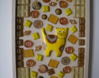 Cat Mosaic Brown