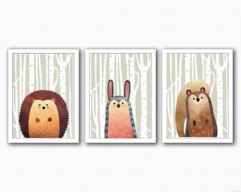 Woodland Animals Set 3 - Half Animals - (Hedgehog/Rabbit/Squirrel)
