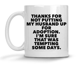 Mother in law gift funny, father in law mug, personalized mother in law mug, mother in law christmas gift, mom in law, father in law gift