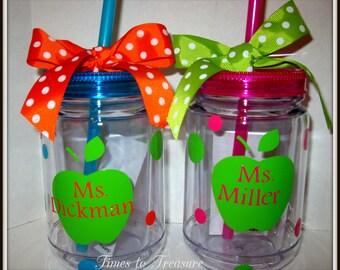 Personalized Acrylic Mason Jar Tumblers Teachers, Friends, Moms, Children  BEACH