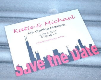 Save the Date Chicago Invitation