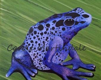 "Blue Dart Frog - 8"" x 8"" Print"