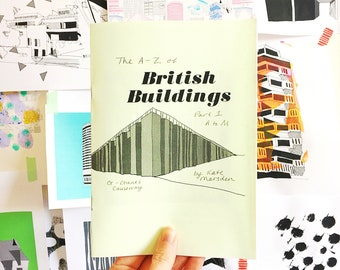 A-Z of British Buildings - Hand Drawn Zine - Part 1 - A-M