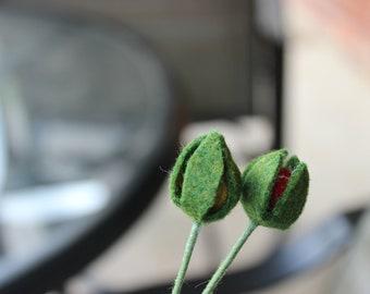 Felt Flower Buds (2)