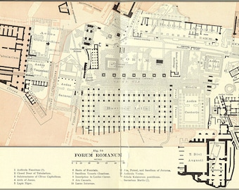 Poster, Many Sizes Available; Roman Forum Original Archeology Sketch Of The Roman Forum