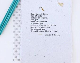 Sentimental Gift for Him or Her | Romantic Birthday Gift for Him | Soulmate Gift | Love Poem Print