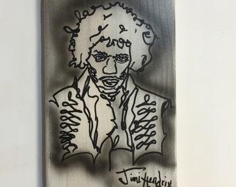 Jimi Hendrix wooden bottle opener, Jimi Hendrix tribute pallet wood bottle opener, Wall mounted, Wooden beer bottle opener