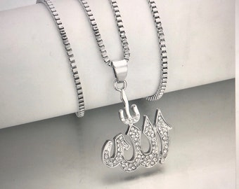 Allah necklace. Silver. Men. Unisex. Gift