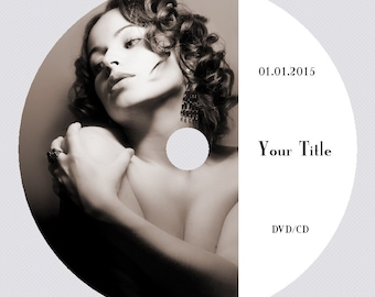 Printing directly on DVD Cd disc. DVD label Design. Your image & Text on top of the Disc. Custom made design.