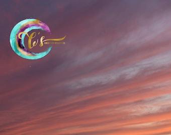 Cotton Candy Sunset Sky Overlay
