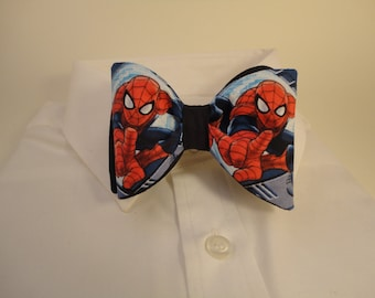 Spiderman in Action Bow Tie