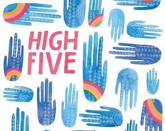 High Five Greeting Card