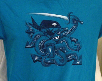 ScurvyPuss i pirati polpo t-shirt bambini