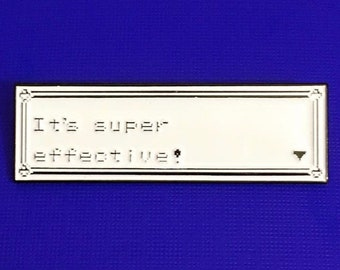 Super Effective Lapel Pin