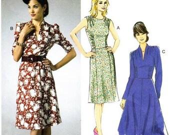 Butterick 5951 Jazzy Forties' Styled Dress / 2013 SZ8-16 UNCUT