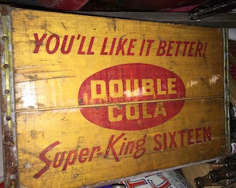 Vintage Double Cola Crate, Kewaunee Orange Crush Bottling Company, Wisconsin