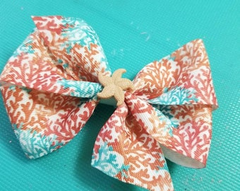 Coral Reef Inspired Boutique bow