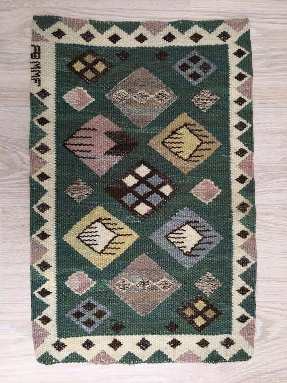 Vintage Swedish tapestry in wool by Märta Måås-Fjetterström called 'Knoppen'