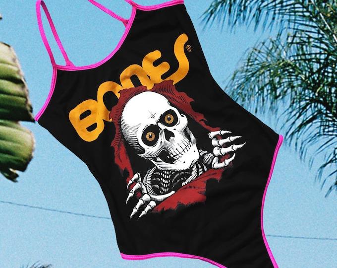Ripper Bodysuit (Black/Pink trim)