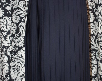 Vintage 1980's - 90's Navy Pleated Skirt;  Item #332-SK