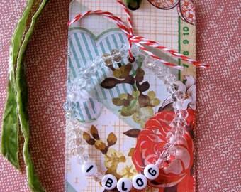 I Blog Bracelet and Tag Handmade * Blogger Bracelet * Blog Jewelry * Gift For Blogger * Blogger Girl Bracelet * Gift For Girls* CardsinStock