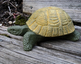 Turtle Statue, Concrete Tortoise, Concrete Garden Turtles, Garden Decor  Turtle Figure, Cement