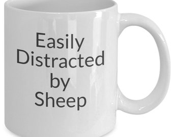Easily distracted by sheep mug