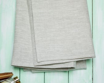 "Organic Soft Linen 100% Flax Bath Towel. Best quick dry lightweight Towel. Hypoallergenic and ecological. Grey 28"" X 58""."