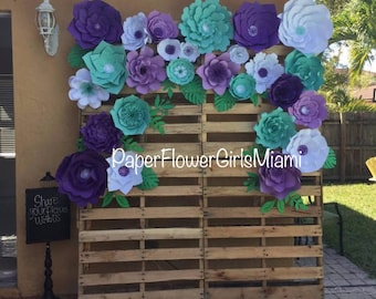 Giant Paper Flowers Backdrop (customize the size, color and quantity)
