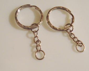 2 rings of key chain to decorate or customize