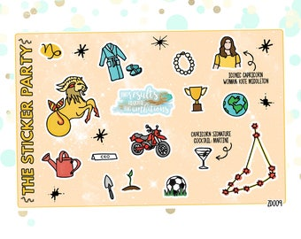 CAPRICORN'S Favorite Things | Zodiac Capricorn Planner Stickers